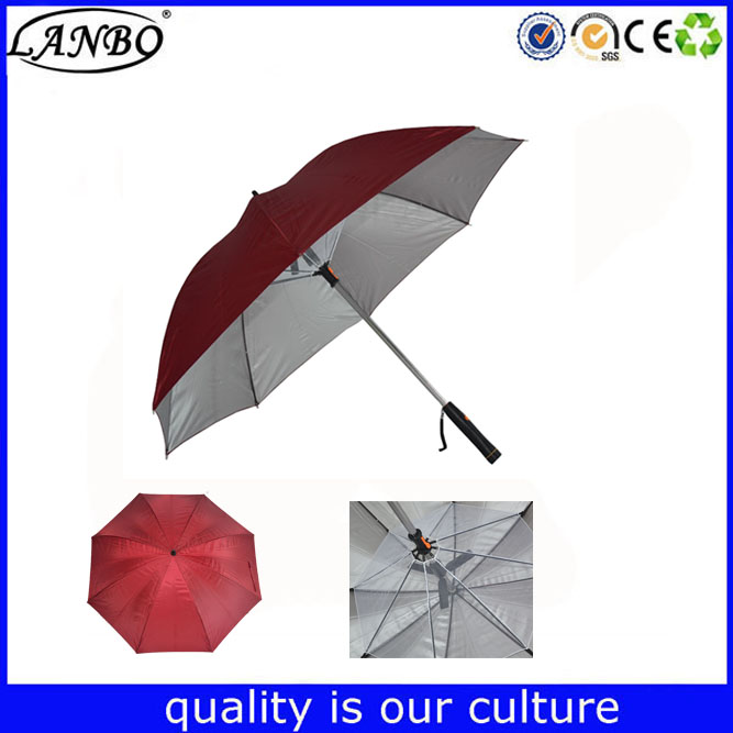 New design recyclable and durable fan umbrella with USB for Islam hot weather