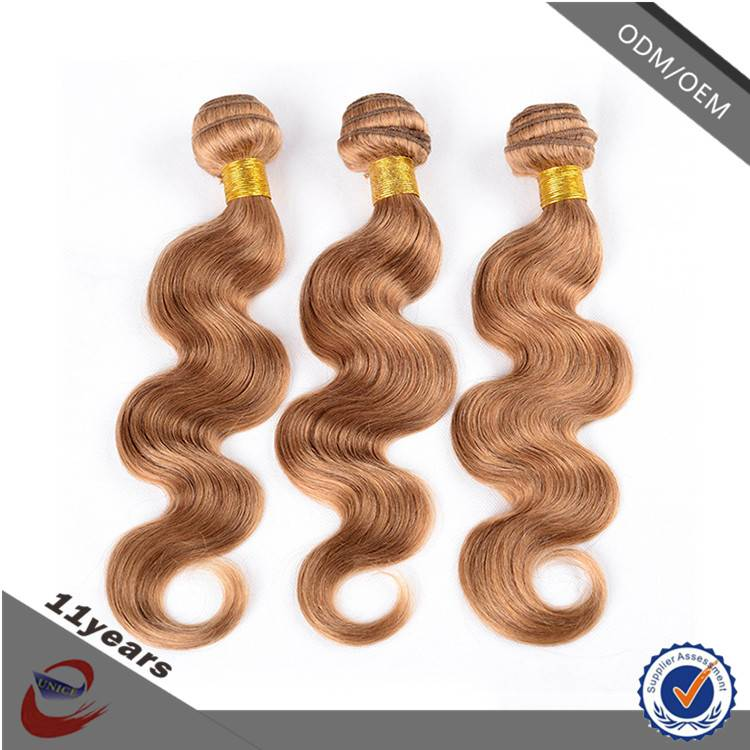 High Quality Cheap Body Wave Two Tone Honey Blonde Brazilian Human Hair Weave
