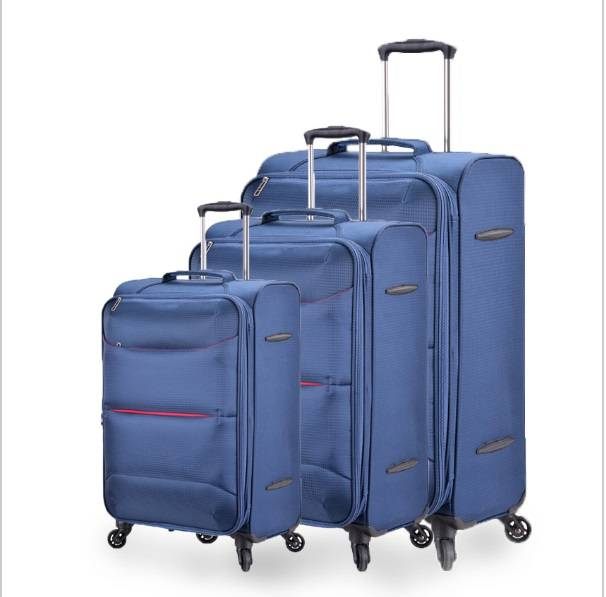 Ultra-light Oxford cloth waterproof international travel luggage sets trolley suitcase with wheels