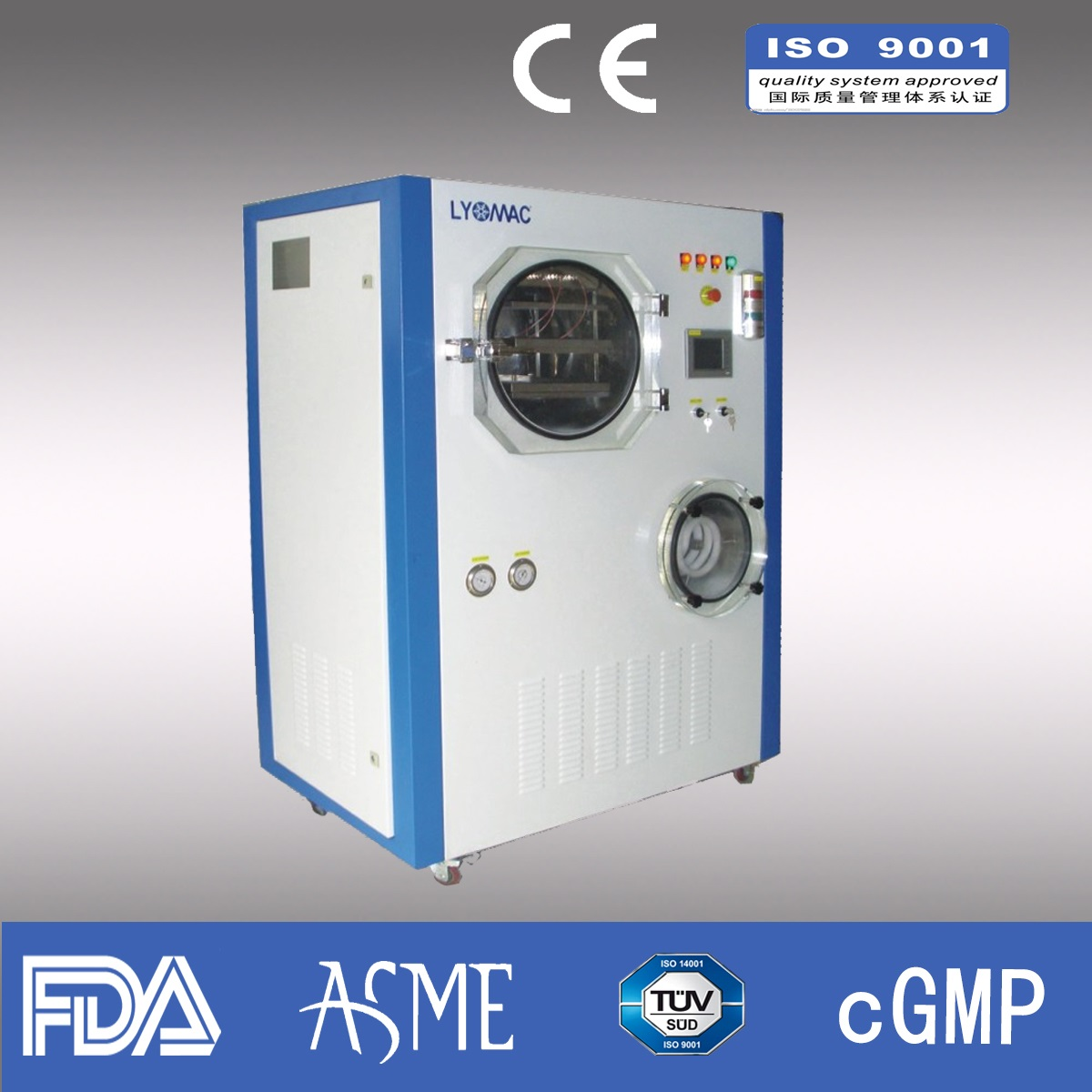 8kg/liter Freeze dryer/ Pharmaceutical freeze dryer