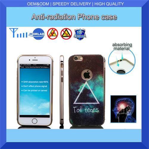 high technology anti radiation 5.5inch mobile phone case custom