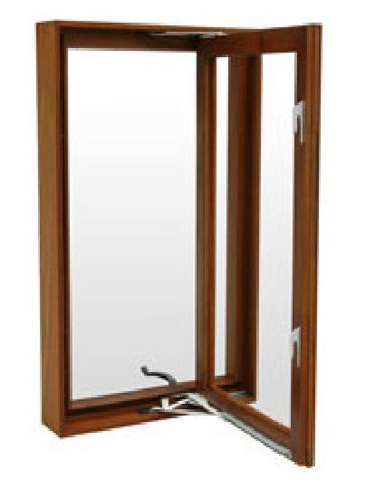 Energy Efficient Wooden Casement Window Good Ventilation
