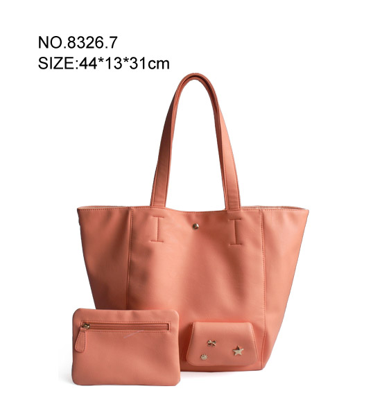 Housewife's PU Handbag with Mini Bag