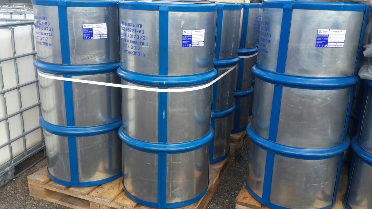 Fireresistant hydraulic glycol fluid PGV ( GOST25821-83)