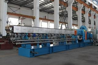 China supplier pallet making double screw extruder plastic compounding pelletizing machine for sale