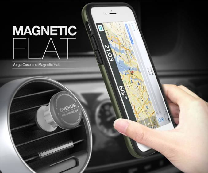 VERUS Verge Magnetic Flat - Air car mount - iPhone 6s/6s plus - Mobile phone accessories, Mobile pho