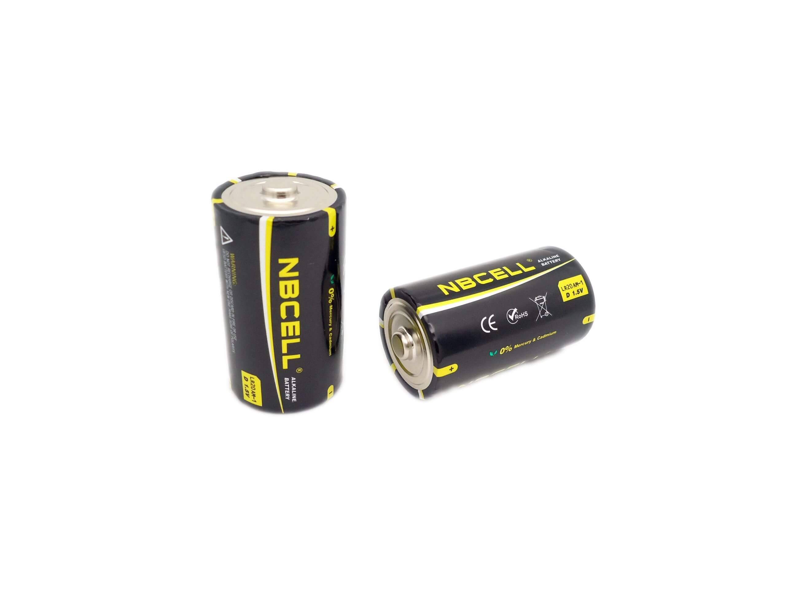 Alkaline Battery 1.5V LR20 D AM-1 (NBCELL brand or OEM)
