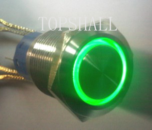 19mm anti-vandal switch/vandal resistant switch/vandal proof switch/maintain switch/self-lock switch