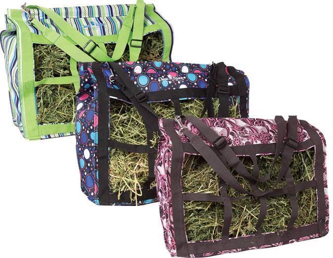 Horse feeder hay bags