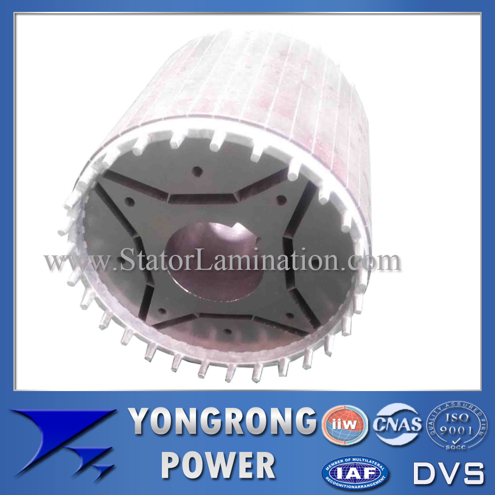 IE4 Permanent Magnet Electric Motor Die Cast Rotor Core