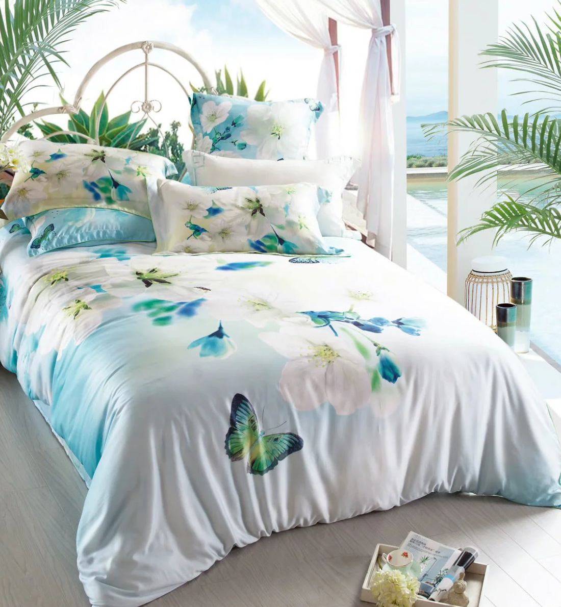 Super soft and cool tencel bedding sets, 60s 100% tencel sheet sets