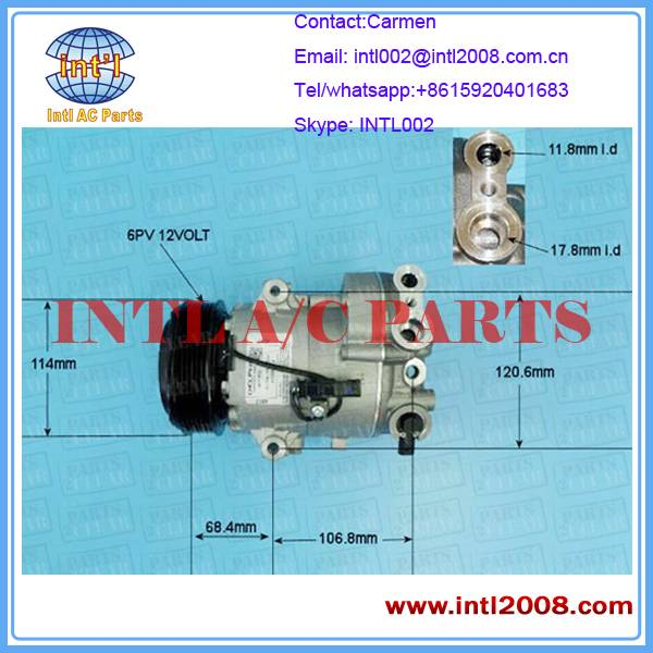 13395695 13250604 13250607 13250608 for Opel Astra Sports Tourer AC Auto Compressor 6PK 12V