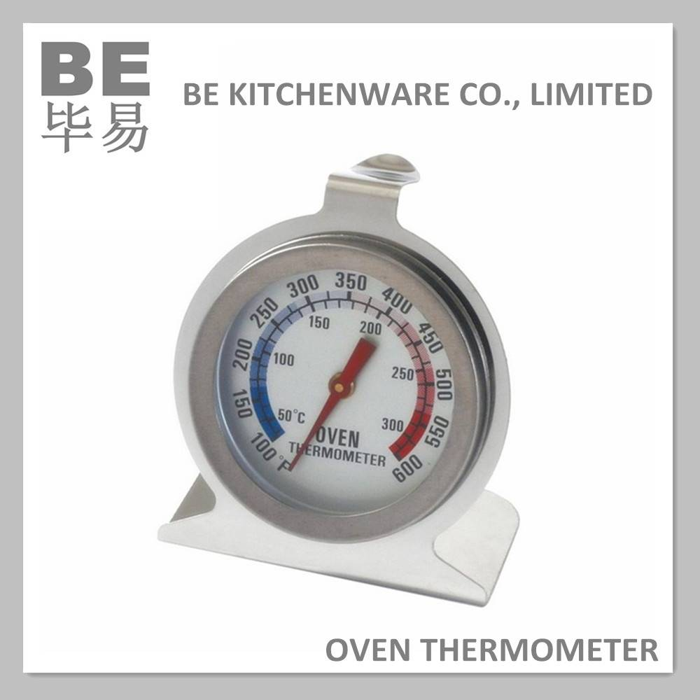 Heavy duty bimetal oven safe pizza oven thermometer