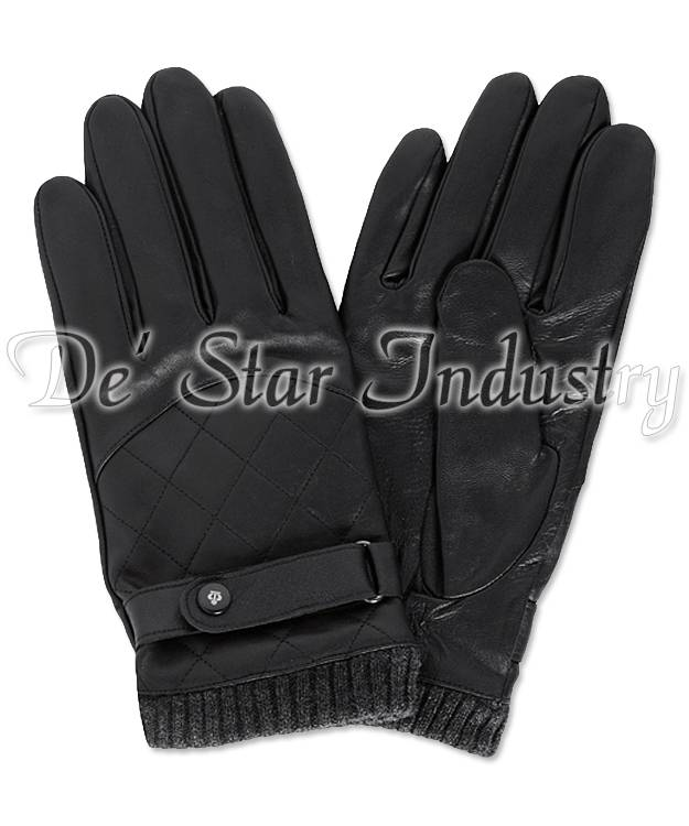 Men Winter Fashion Leather Gloves