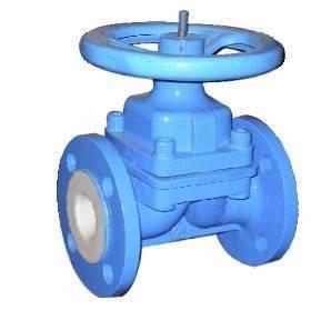 liner PTFE/FEP valve,diapghragm valve,bolted bonnet design,cast steel, HYDROFLUORIC ACID