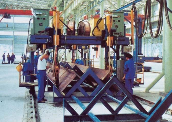 Gantry type H-beam automatic welding machine