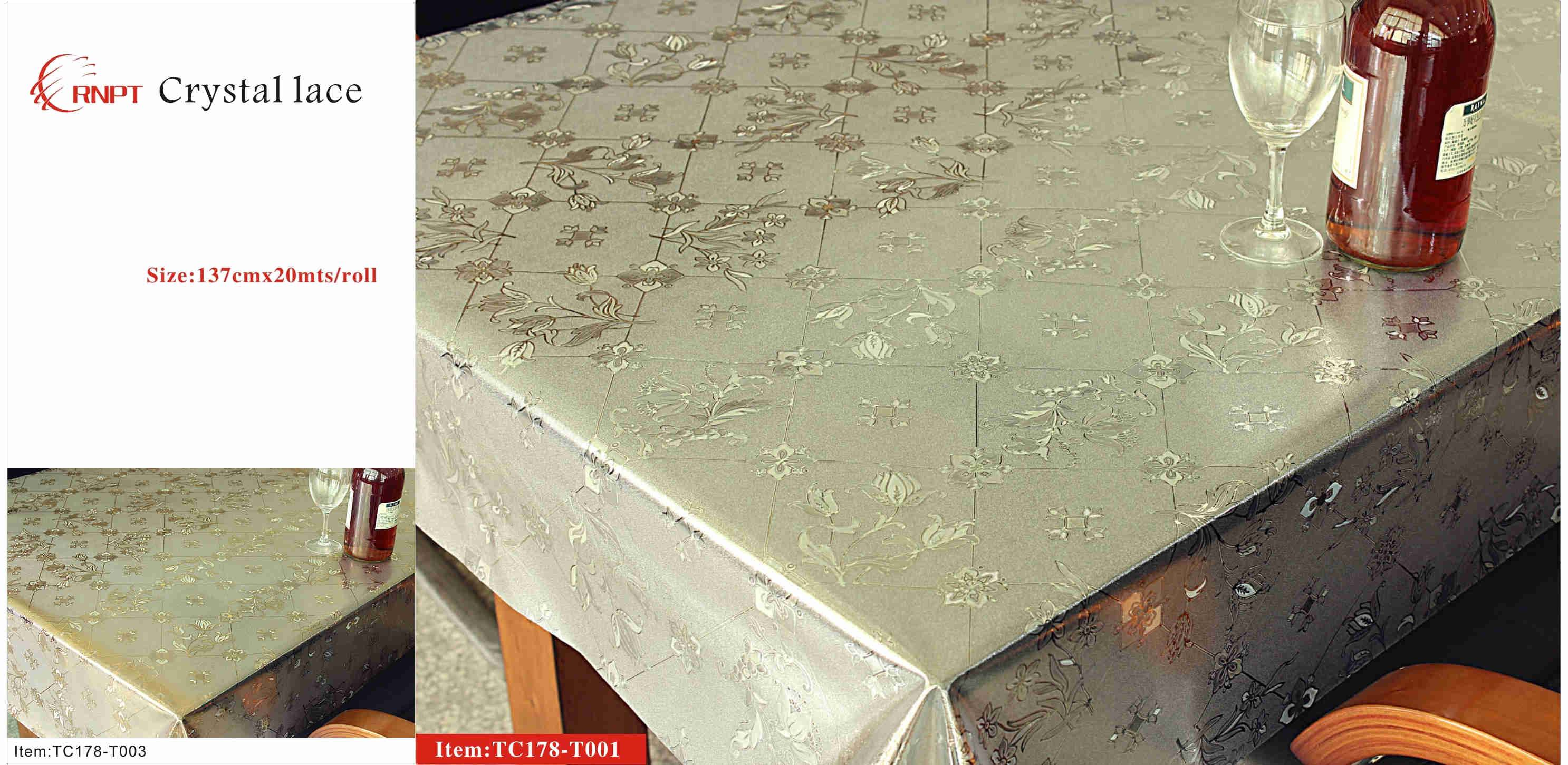 pvc tabe cover lace