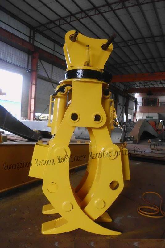 Heavy Duty Excavator Wood Grapple Construction Machinery Accessories