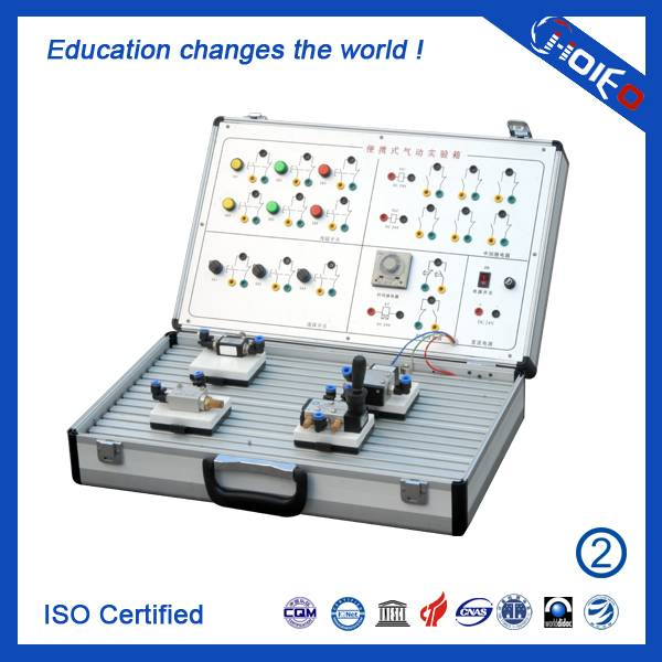 Portable Electro Pneumatic Experiment Box,technical educational trainer,vocational training device,p