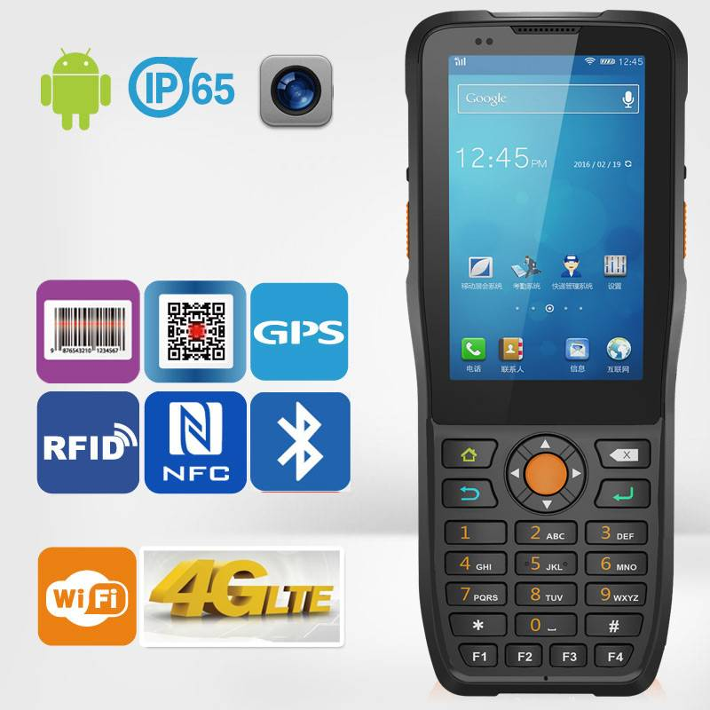 handheld android Quad-Code cell phone 1D 2D barcode scanning PDA
