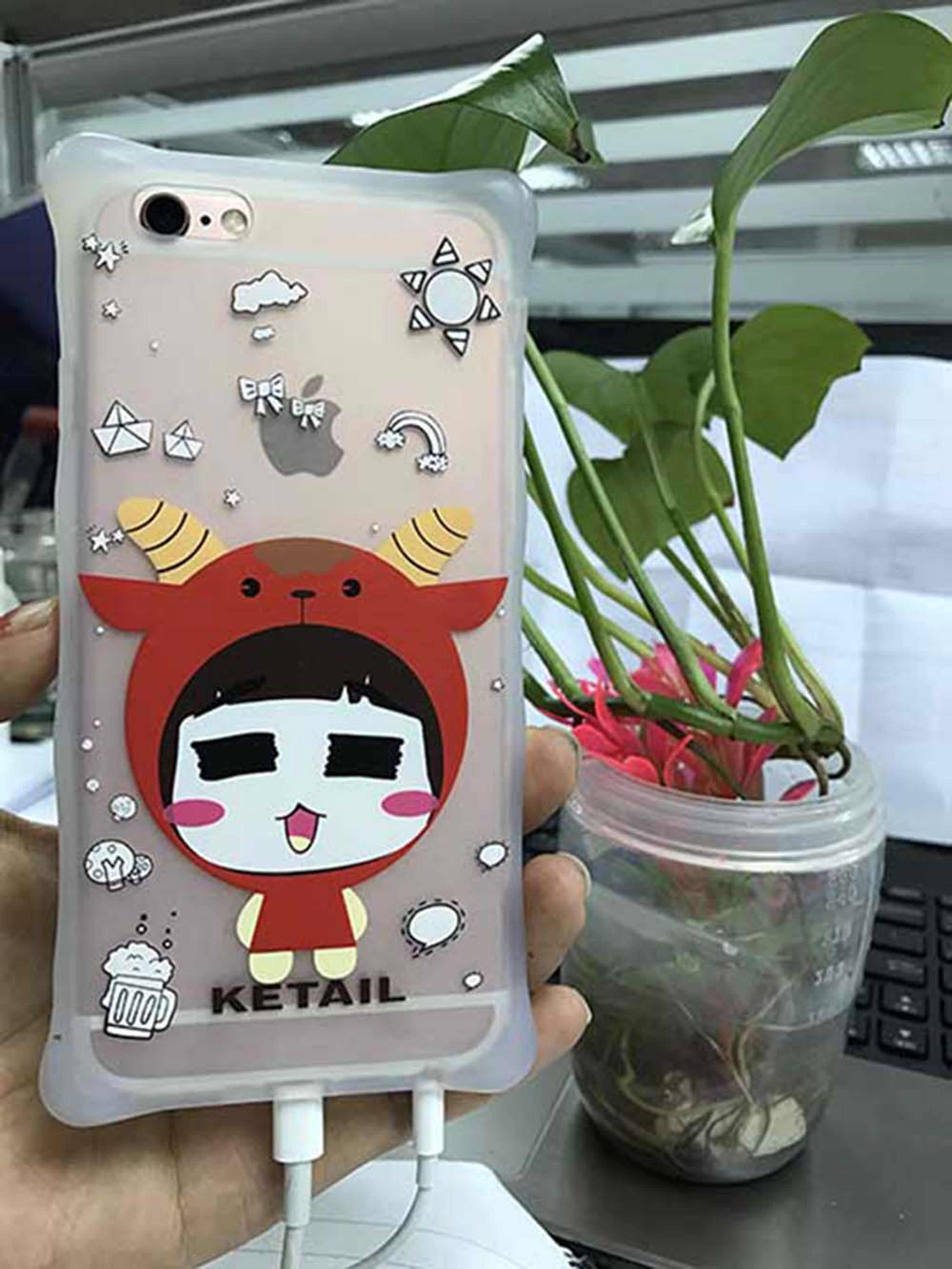 New Version Silicone Custom Phone Cover with Different Cute Carton Shape