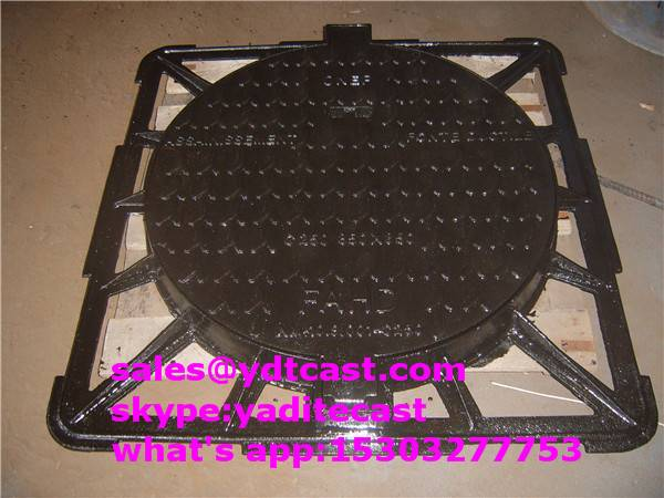 d400 ductile iron manhole cover 850*850*90 mm for Africa