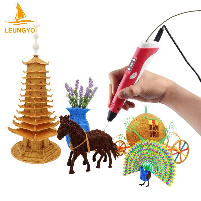 2016 newest product 3d printer pen with 1.75mm abs filament