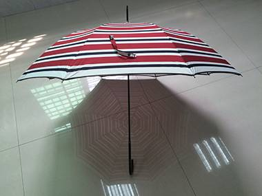 Auto Straight Premium  Stripe Red Color Umbrella