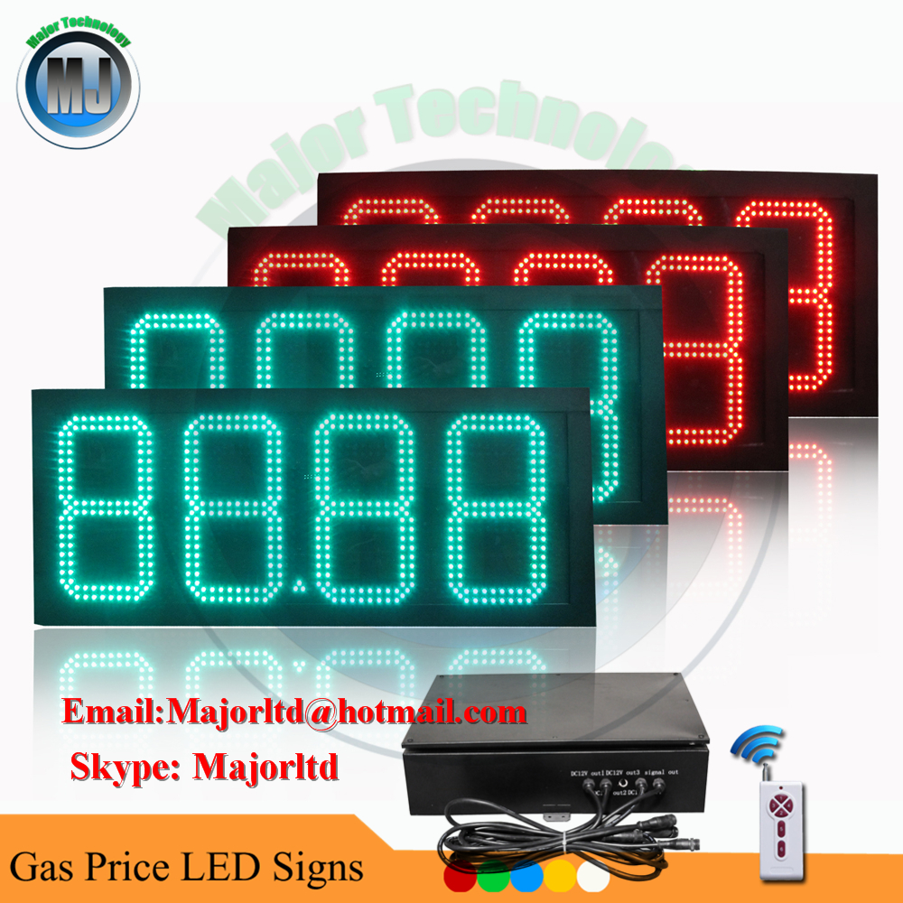 Double Side Remote 10 Inch LCD Remote Control LED Diesel Price Sign for Gas Station