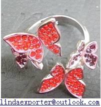 Fashion alloy plating silver crystal ring