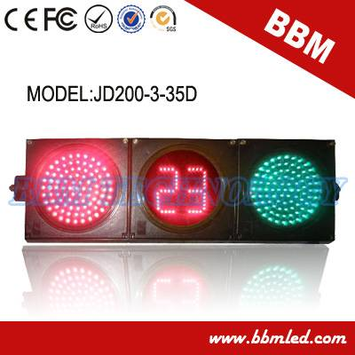 200mm red green ball road traffic light timer