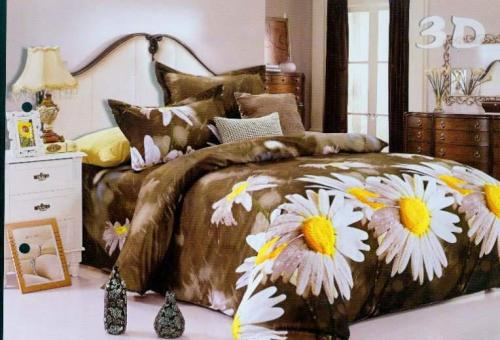 100% polyester 3D duvet covers sets and new model casual bedsheet for home textile