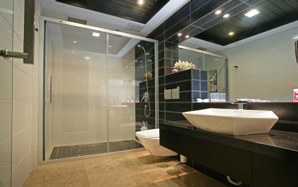 China brand shower room door double glass