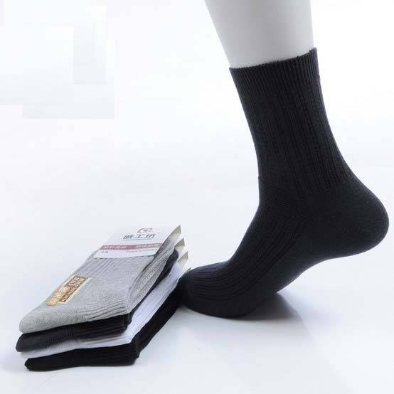 Wholesale Deodorized Men's Quarter Cotton Socks