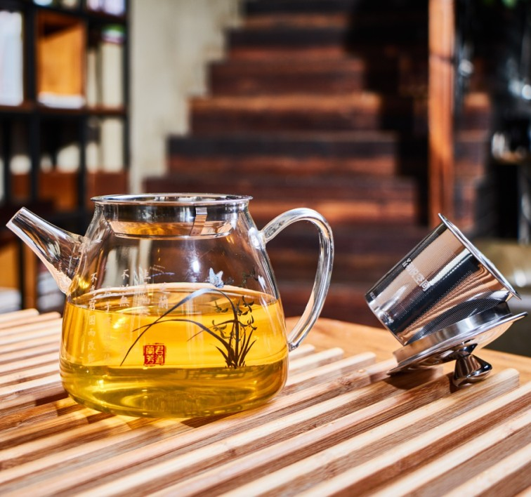 Glass Teapot with Stainless Steel Infuser Glass Tea Jug Glass Teapot Gift
