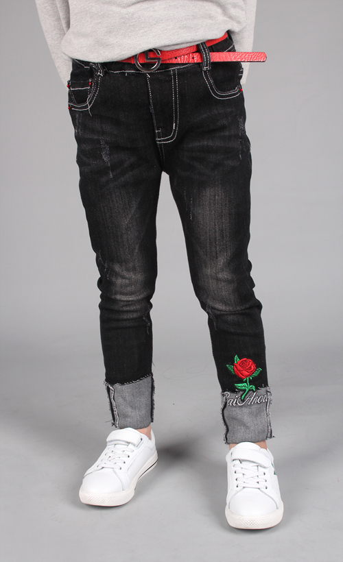 Jeans for Girls Wholesale with Embroidery