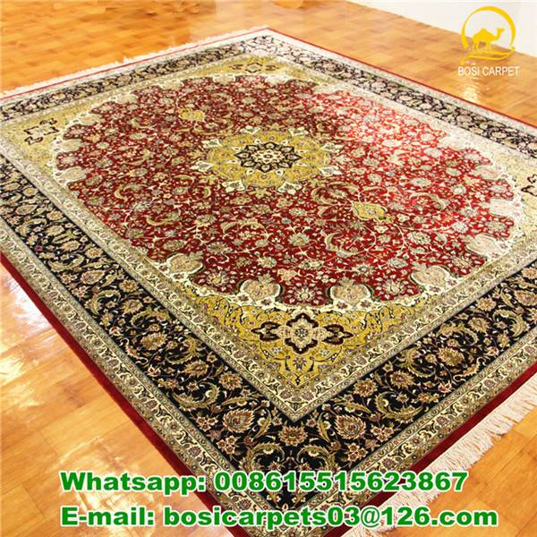 260lines Red Carpet 8x10ft handmade silk carpets persian rug