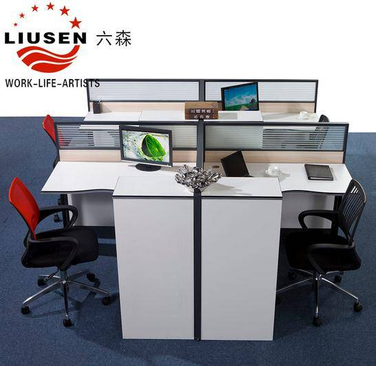 High Tech Executive Office Desk and Office Workstation For 4 People(LS-014)