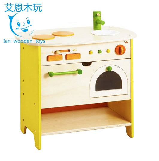 Kids Wooden Kitchen, Wooden Pretend Play Kitchen, Wooden Play Kitchen