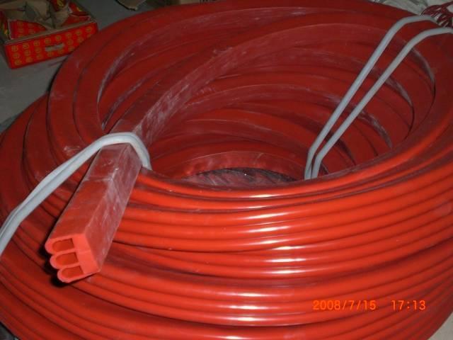 Food grade 100% silicone stripe with translucent, dark red