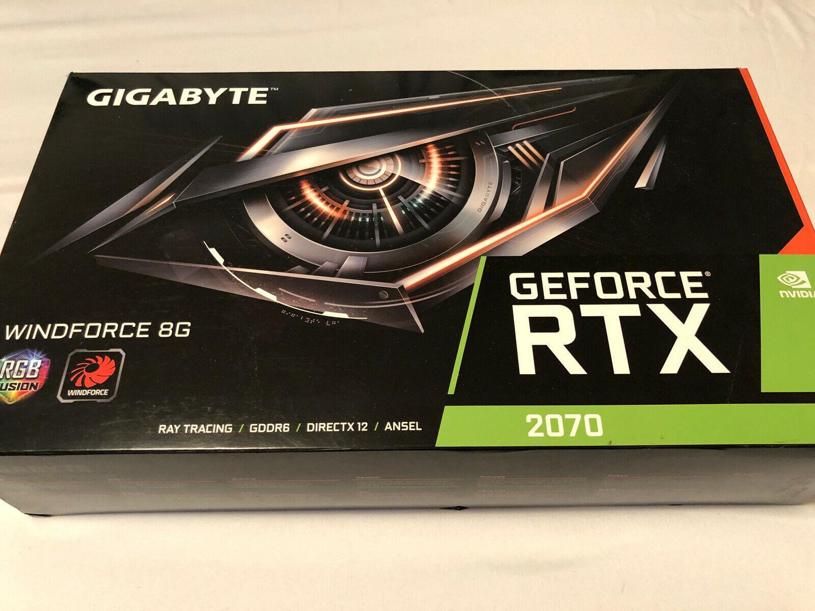 GIGABYTE GeForce RTX 2070 Windforce 8GB GDDR6 Graphics Card.....+14704086638