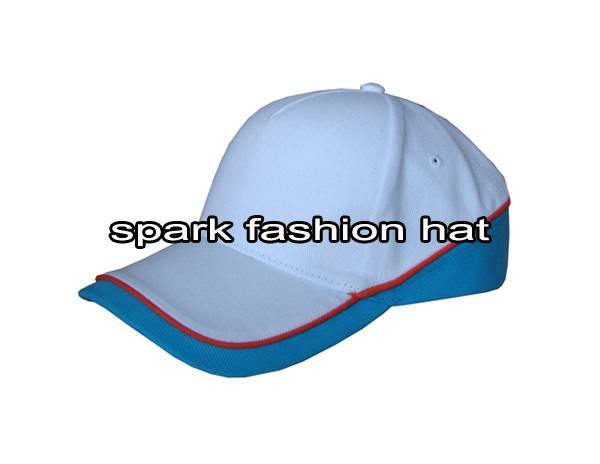 5 panel plain patchwork sports cap with piping