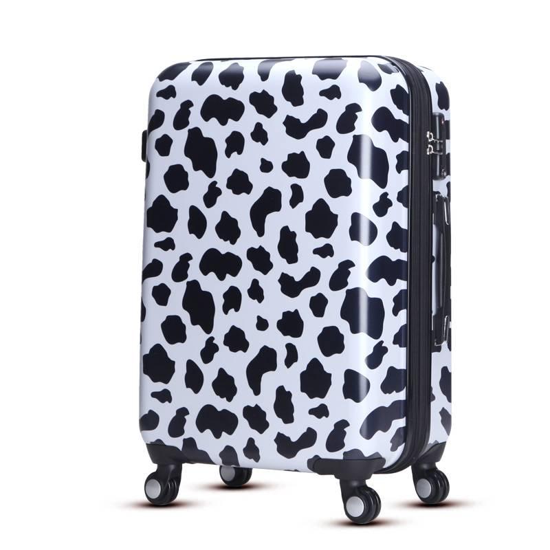 OEM service fashion leopard 20inch luggage