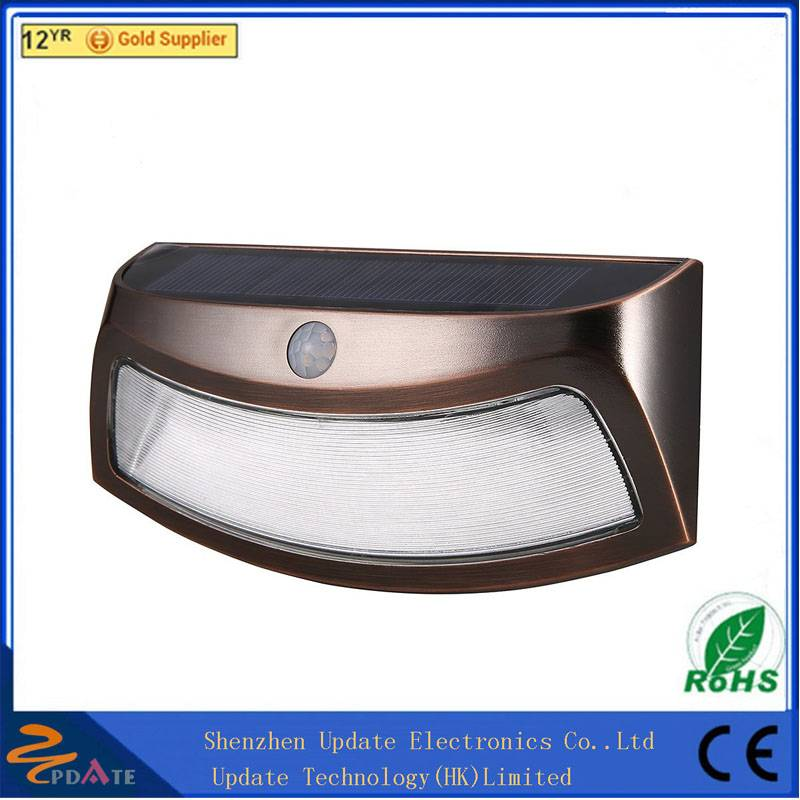 8 LED PIR solar motion sensor wall light