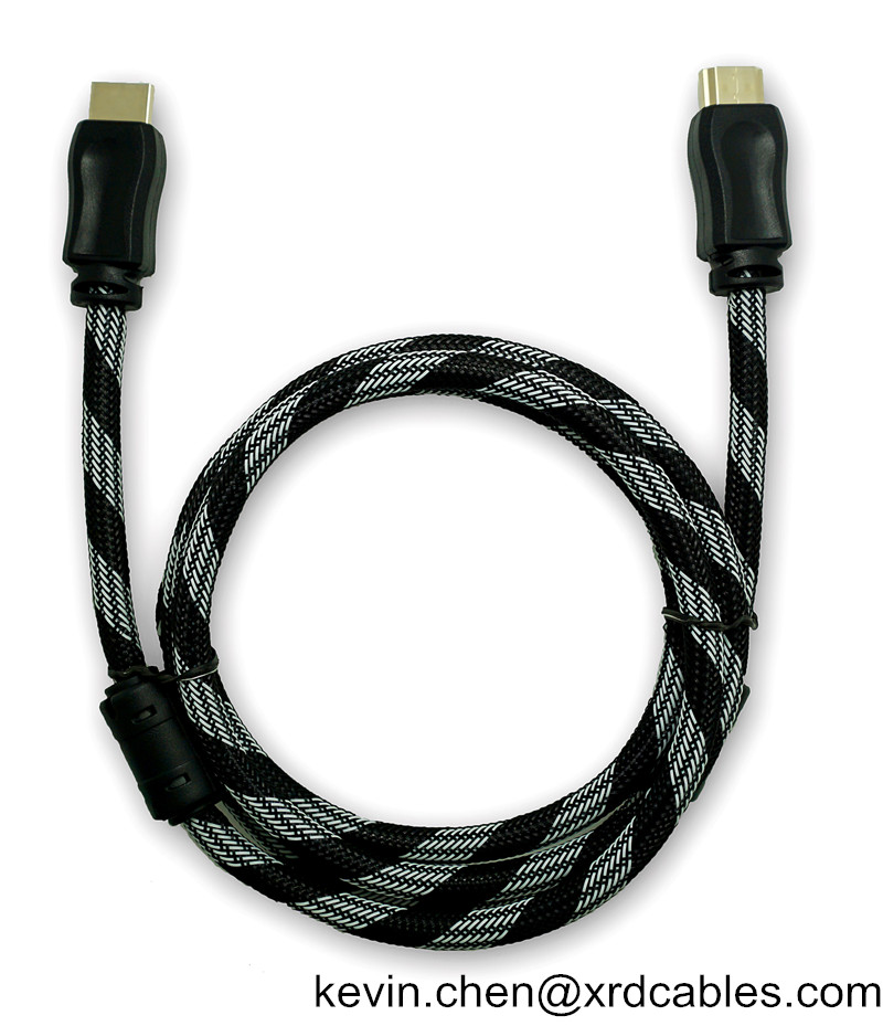 Nylon Braid HDMI Cable 1.5M 1.8M 3M 5M 10M HDMI Cord 1080P 3D for PS4 Xbox Projector HD LCD Apple TV