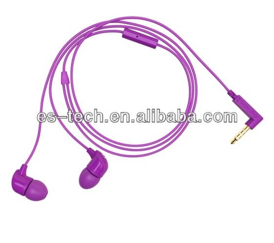 2014 new colorful tangle free earphone