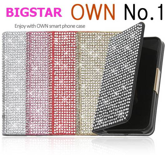 [BIGSTAR OWN NO.1 CRYSTAL]CELL PHONE CASE CUBIC BLING BLING MOBILE PHONE CASE