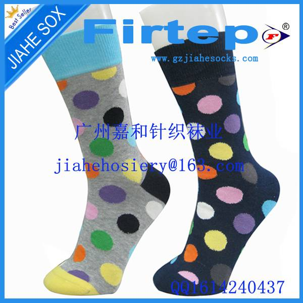 custom colorful cotton man sock