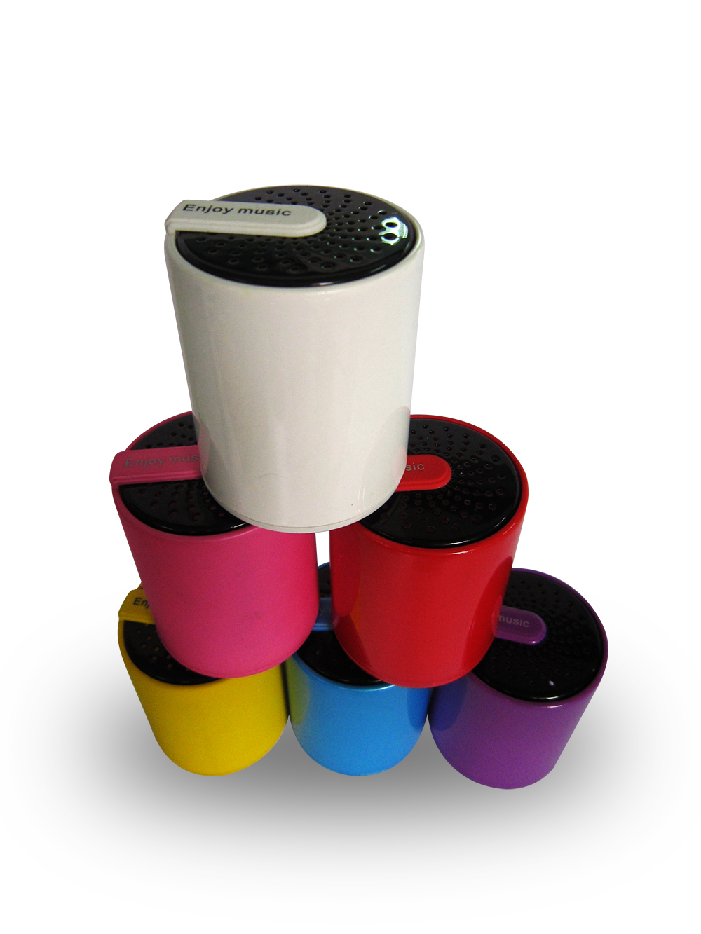 Cylinder Shape Mini Bluetooth Speaker Support AUX In 300mAh Battery 4 Hours Playback