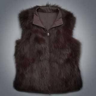 Reversible Fur Nylon Vest